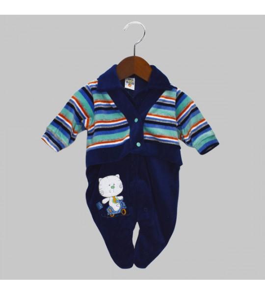 Macacão Plush  - Gatinho Alegre - Bloomys Baby